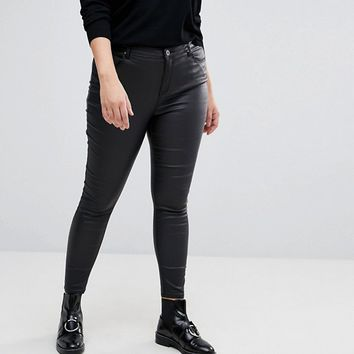 Simply Be Coated Skinny Jeans at asos.com