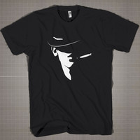 Bruno Mars Shadow  Mens and Women T-Shirt Available Color Black And White