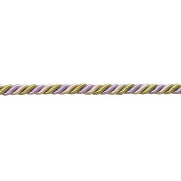 """10 Yard Pack of Medium Lilac Gold  Baroque Collection 5/16"""" Decorative Cord Without Lip Style# 516BNL Color:  WINTER LILAC - 8426 (30 Ft / 9 Meters)"""