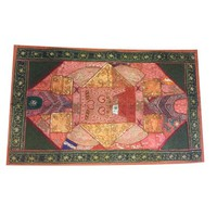 Mogul Vintage Embroidered Tapestry Beautiful Handmade Sari Tapestry Wall Decor Wall Art Home Decor - Walmart.com