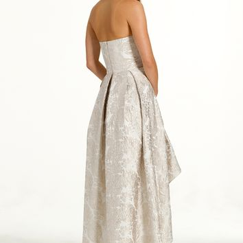 Strapless Brocade Hi-Low Dress from Camille La Vie and Group USA