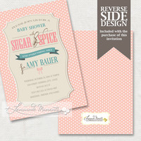 Sugar and Spice Birthday Invitation /  Printable Sugar and Spice and Everything Nice Invitation