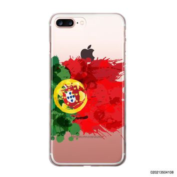 Blitz® PORTUGAL TRANSPARENT Hülle für iPhone Smartphone Handy Soft Case