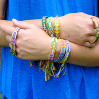 Set of 3 Tribal Friendship Bracelets - Bulk Discount - Bohemian - RANDOM Color Combo - Choice of Feminine or Masculine Colors