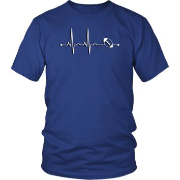 Men's Rugby Heartbeat T-Shirt - Sports Gift