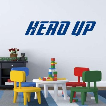 Hero Up Wall Decal Super Hero Squad Vinyl Decal Sticker For Kids Boy Avengers Superhero Marvel Comic Themed Rooms Wall Art Decor