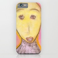 Spiritual Chalks Drawing of Archangel Michael iPhone & iPod Case by YourSparklingShop