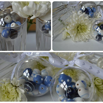 Blue beads bauble, stocking filler, Glass beads, Christmas, festive decoration, holiday decoration, wedding favour
