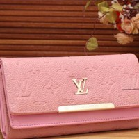 LV fashion trend printing leather long wallet[380326412324] F