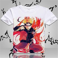 Animation Cosplay Naruto Short-sleeve T Shirts