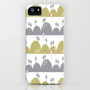 Hills and trees iPhone & iPod Case by Cecilia Andersson