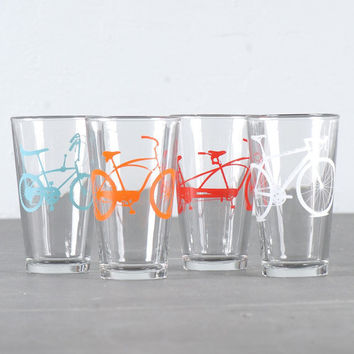 Mixedup super bike party   screen printed bicycle pint by vital