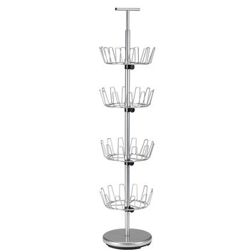 Household Essentials Storage and Organization 4 Tier Revolving Shoe Rack