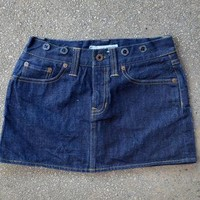 Vintage Ralph Lauren Rugby Denim Jean Mini Skirt