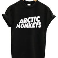 Hot Arctic Monkeys Premium Logo Printed Supreme Men Cotton T Shirt Tee - AR1