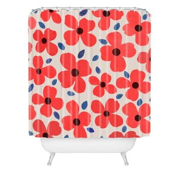 Garima Dhawan Dogwood Red Shower Curtain