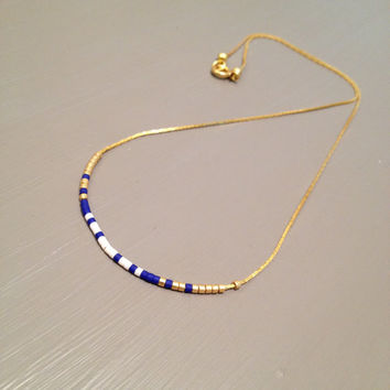 gold bar necklace simple necklace dainty gold necklace delicate gold necklace delicate necklace bead bar necklace chain necklace