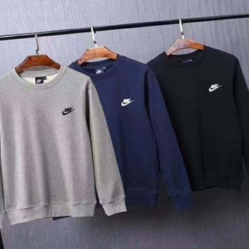 VXL8HQ NIKE Men Fashion Embroider Logo Long Sleeve Pullover Sweater  G-ZDL-STPFYF