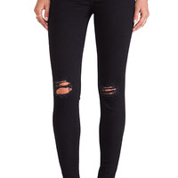 J Brand Super Skinny Jean in Blackout