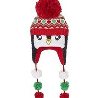 Shimmery Tinsel Penguin Earflap Hat | Girls {category} {parent_category} | Shop Justice