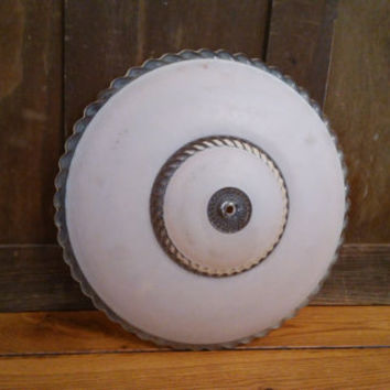 Vintage Pink Glass Dome Style Ceiling Light Shade Diffuser Globe