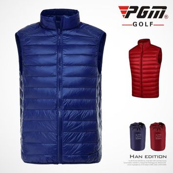 Brand Reversible Ultra-light New Men PGM golf clothing coat Windbreaker Golf /tennis sportswear vest Waistcoat Feather