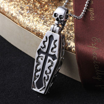 Stylish New Arrival Gift Shiny Jewelry Titanium Cross Rack Vintage Pendant Fashion Accessory Men Necklace [6526589251]