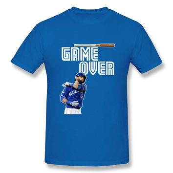 Fancesca Jose Bautista Bat Flip Game Over Logo Mens Fashion Short Sleeve T Shirt