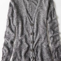 AEO Women's Don't Ask Why Pocket Cardigan (Black)