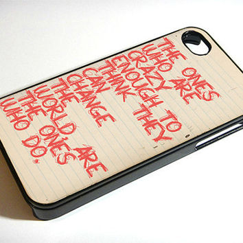Steve Jobs Crazy  iphone 4 case iphone case by ExpressoPrint