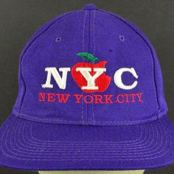 DCK4S2 New York City, New York The Big Apple Baseball Hat Cap Adjustable Strap
