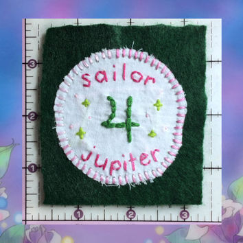 Sailor Jupiter Patch, Sailor Moon Patch, Handmade Patch