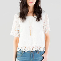 Nanette Crochet Crop Top