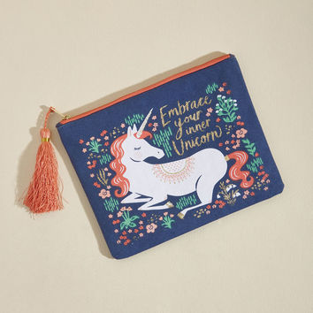 Paper Source Uniquely You Canvas Pouch