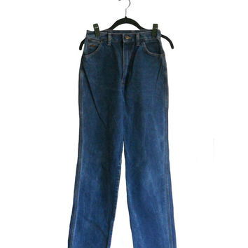 Vintage Denim Jeans Wrangler's High Waist Straight Leg Style - Juniors Size 11 - Made in USA