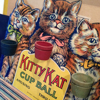 Kitty Kat Cup Ball Game Rosebud 1930s