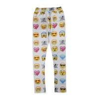 Emoji element print women pants cute cartoon sweatpants long joggers trousers Medium