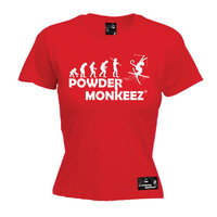 Powder Monkeez Women's Evolution Powder Monkeez Skiing Snowboarding T-Shirt