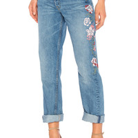 GRLFRND x REVOLVE Helena High-Rise Straight Crop Jean in Mony Mony