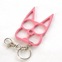Cat Self Defense Keychain Black