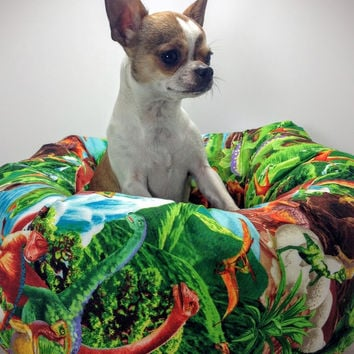 Dinosaur Round Pet Bed – Group One Dog Gallery®