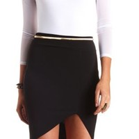Bodycon Tulip Pencil Skirt by Charlotte Russe - Black