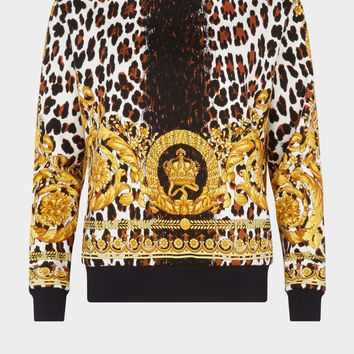Versace Wild Baroque Print Sweatshirt for Women | US Online Store