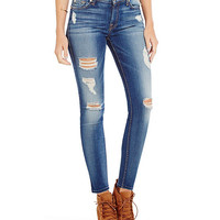 7 for All Mankind Distressed Ankle Skinny Jeans | Dillards