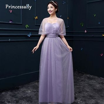 Lavender Bridesmaid Dresses Tulle Ribbons Different Styles Light Purple Mismatched Dress Fall Bridesmaid Dresses Long For Party