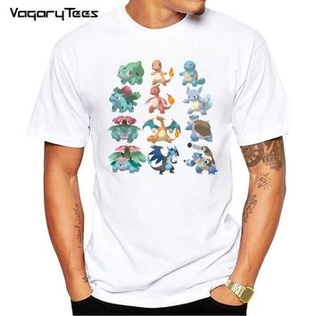 HOT  Go Anime Evolution Charizard Squirtle Printed Adult T Shirts Summer Fashion Unisex Casual T-shirt TeeKawaii Pokemon go  AT_89_9