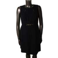 Tahari ASL Womens Petites Bobby Cut-Out Sleeveless Wear to Work Dress