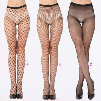 Fashion Women Cosy Sexy Fishnet Stockings Ladies Fish Net Pantyhose Black Mesh Lingerie Sheer Tights