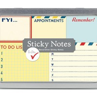 Cavallini Sticky Notes To Do