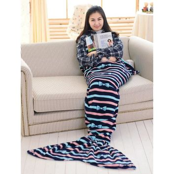 Soft Mermaid Tail Sofa Plush Blanket